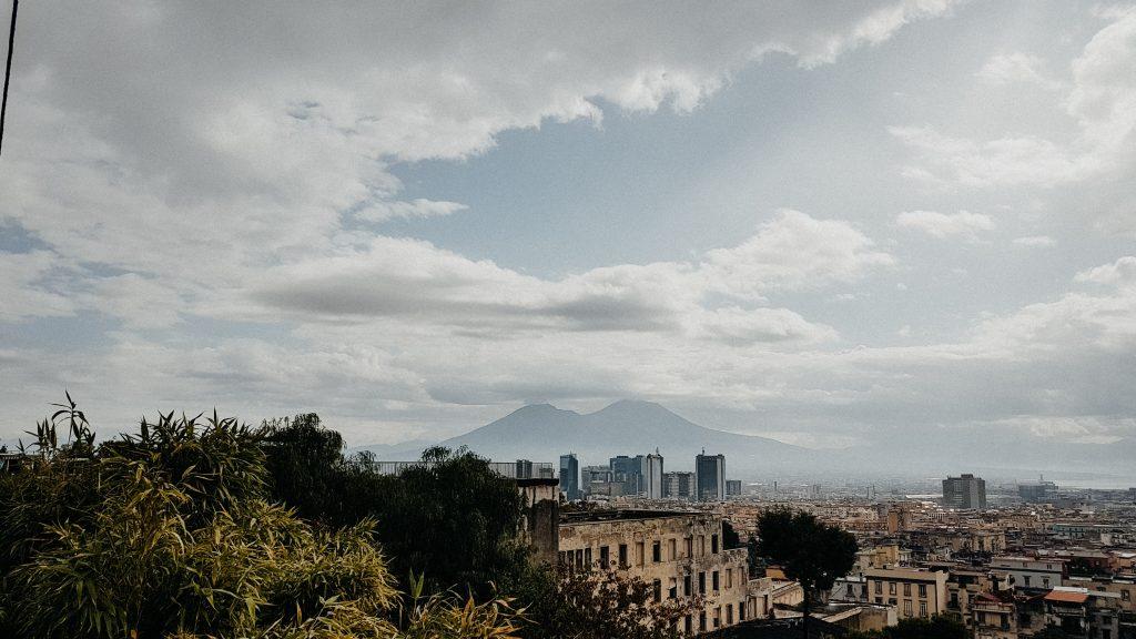 Aussicht Neapel, Vesuv, Städte Reise Neapel