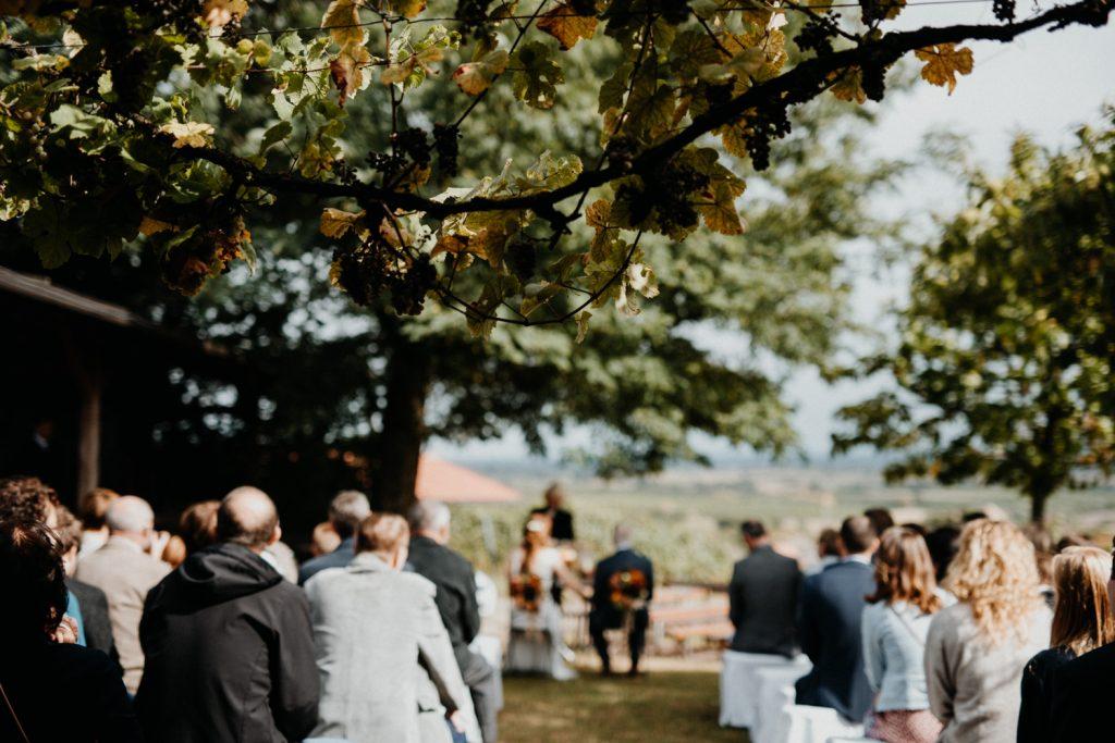 Hochzeitsfotograf Pfalz, freie Trauung auf dem Sonnenberg, Schweigen Rechtenbach, deutsches Weintor