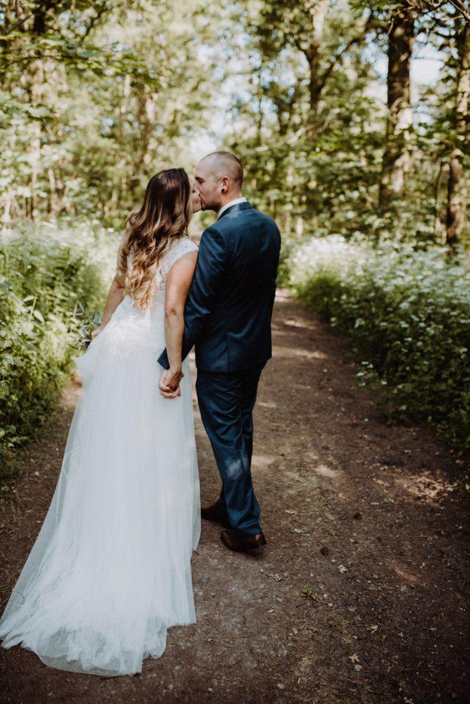 Hochzeitsfotograf Pfalz, Brautpaarshooting im Wald